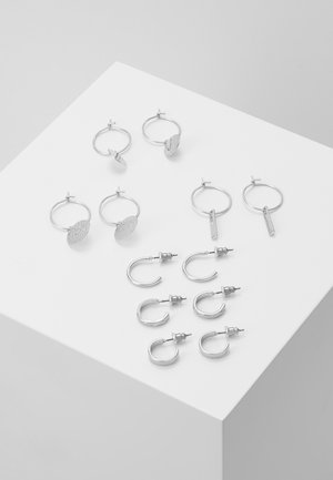 CALOWEN 6 PACK - Oorbellen - silver-coloured