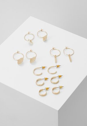 CALOWEN 6 PACK - Earrings - gold-coloured