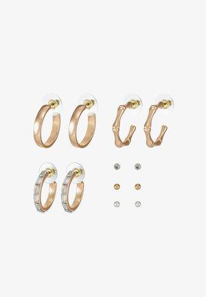 ARGENTEA 6 PACK - Earrings - gold-coloured