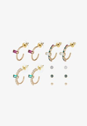 KEID 6 PACK - Earrings - multi/gold-coloured