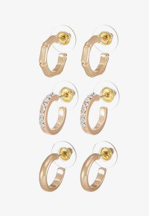 TAMBOTI 3 PACK - Boucles d'oreilles - gold-coloured