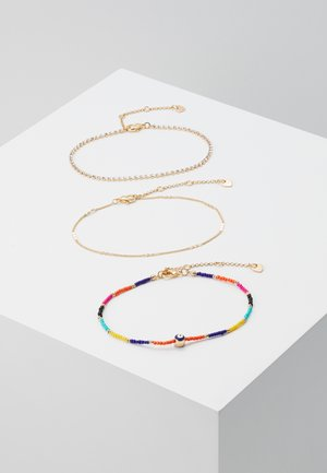EDENAWET 3 PACK - Pulsera - bright multi on gold-coloured