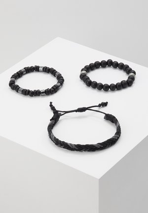 GEORDON SET - Armband - black/grey