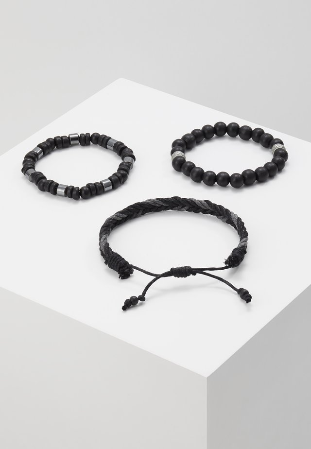 GEORDON SET - Armband - black/grey