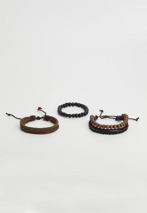 BEIWIEL 3 PACK - Bracelet - brown