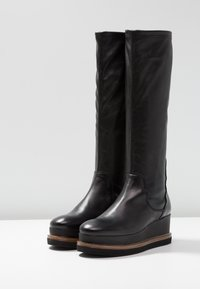 another project - Wedge boots - black/brown - 4