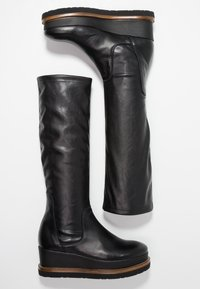 another project - Wedge boots - black/brown - 3