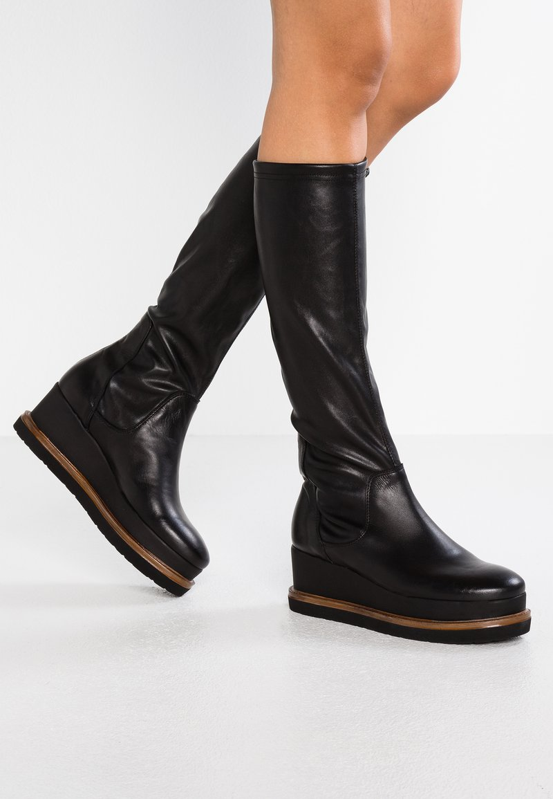 another project - Wedge boots - black/brown