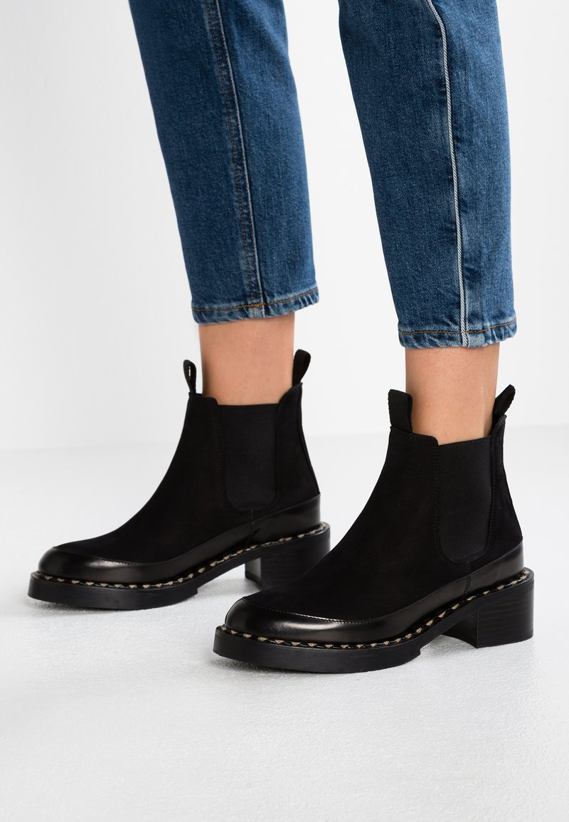 another project - Ankle boots - black