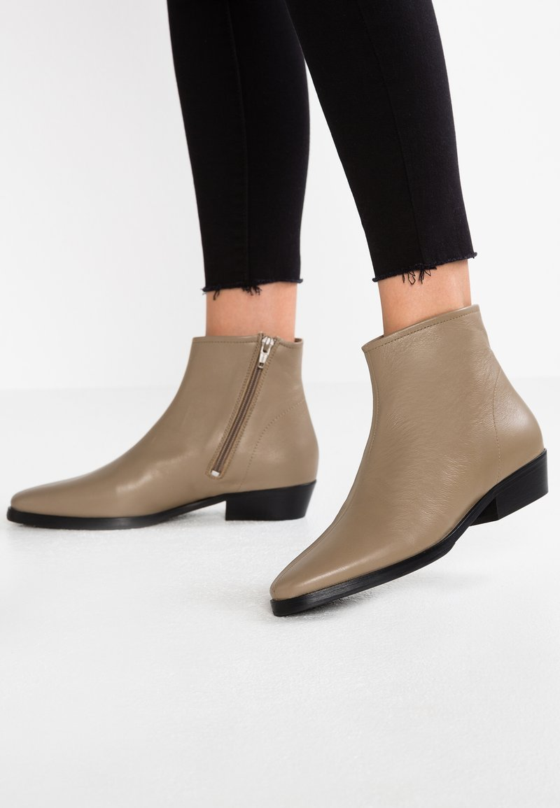 another project - Classic ankle boots - taupe