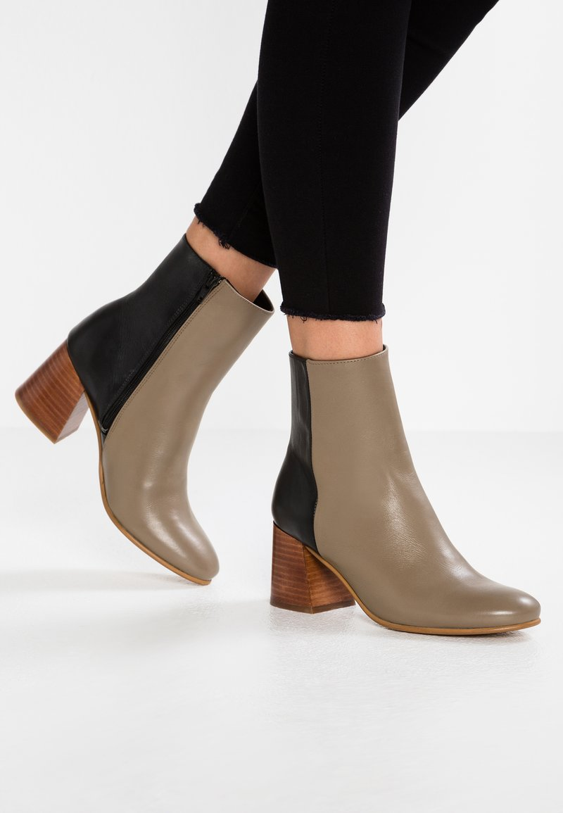another project - Classic ankle boots - taupe/black