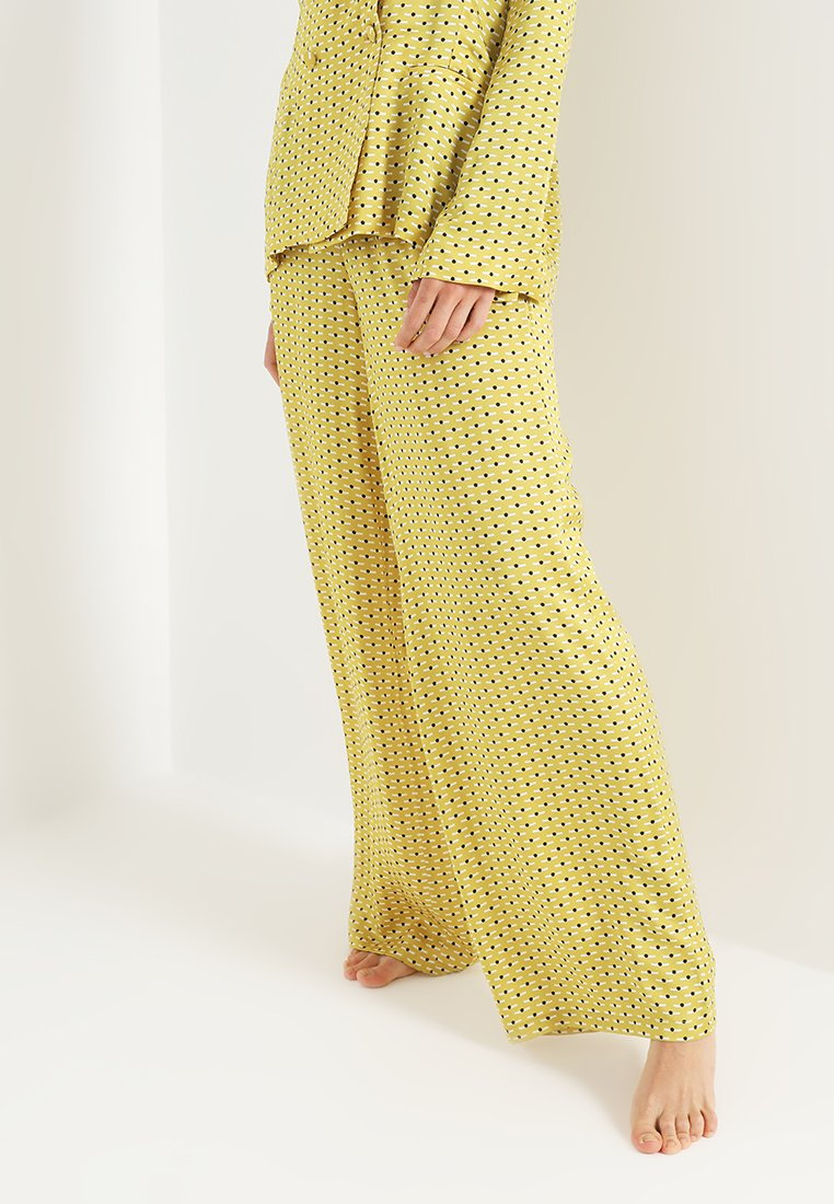 ASCENO - WIDE LEG TROUSER - Nachtwäsche Hose - yellow