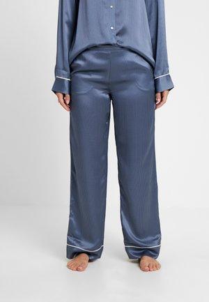 BOTTOM - Pyjamabroek - blue/black