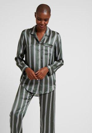 SLEEP - Pyjamasöverdel - olive stripe