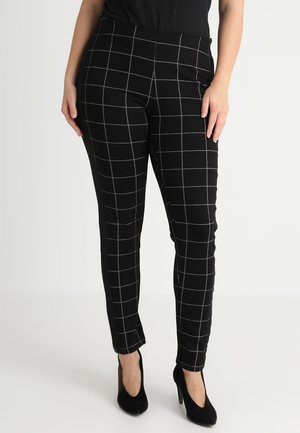 PANTS CHECK - Leggings - black