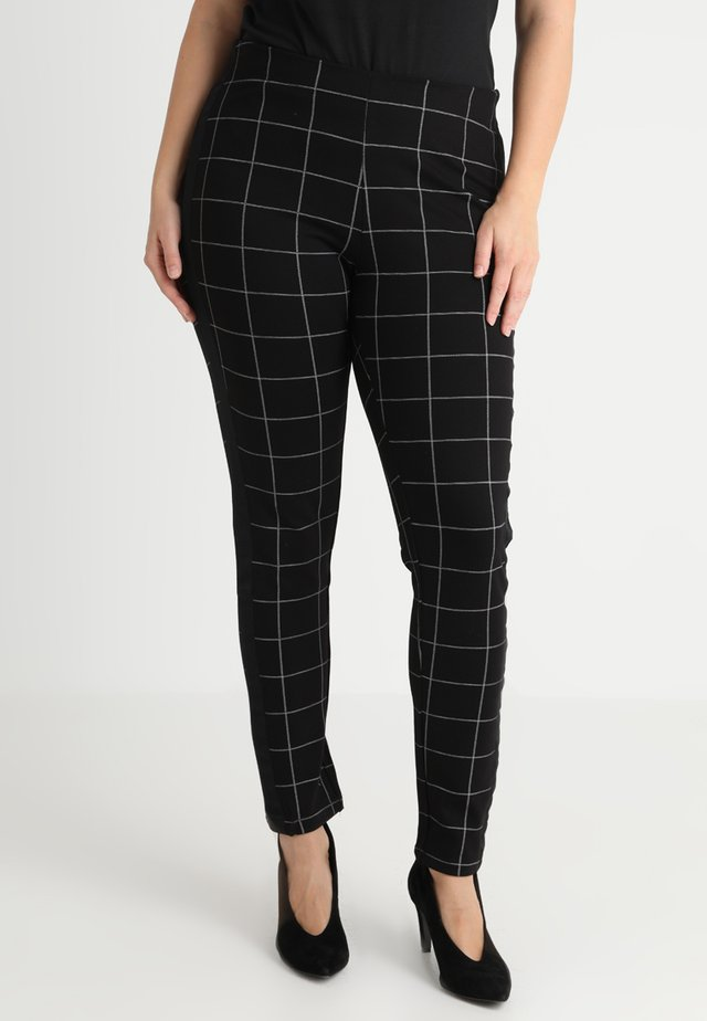 PANTS CHECK - Leggingsit - black