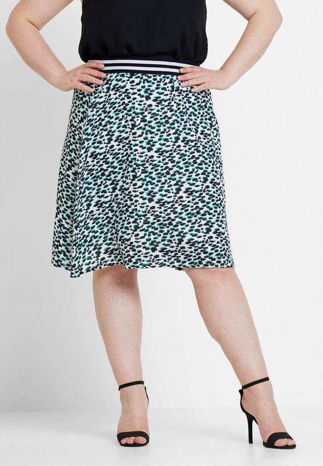 LEOPARD PRINT TILDA SKIRT - A-line skirt - green bean