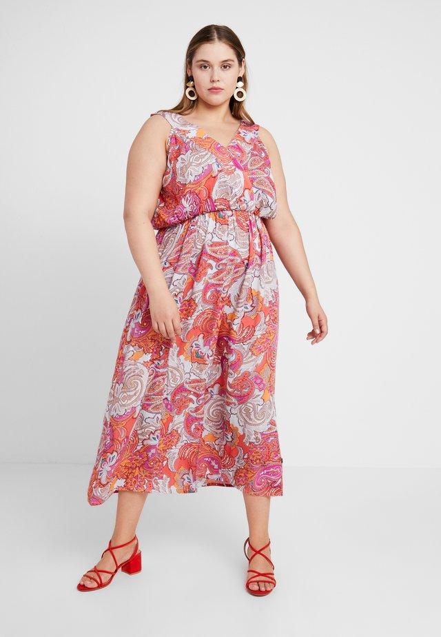 PRINT DRESS - Maxi dress - coral