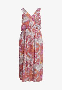 ADIA - PRINT DRESS - Maxikjoler - coral - 3