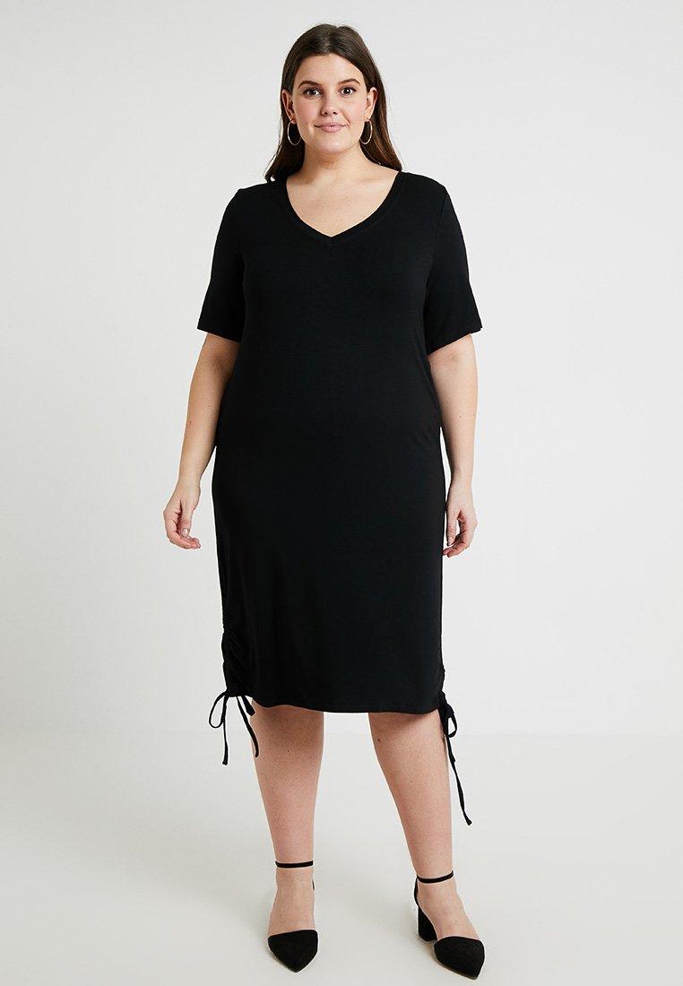 ADIA - SIDE TIE DRESS - Jerseykjole - black
