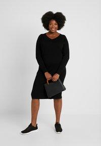 ADIA - DRESS O NECK SLEEVES - Robe pull - black - 1