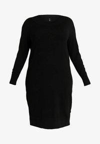 ADIA - DRESS O NECK SLEEVES - Robe pull - black - 3