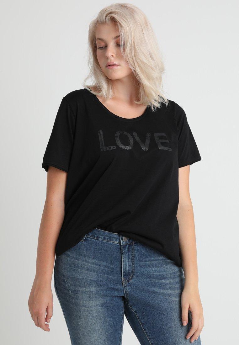 ADIA - LOVE - T-shirt imprimé - black
