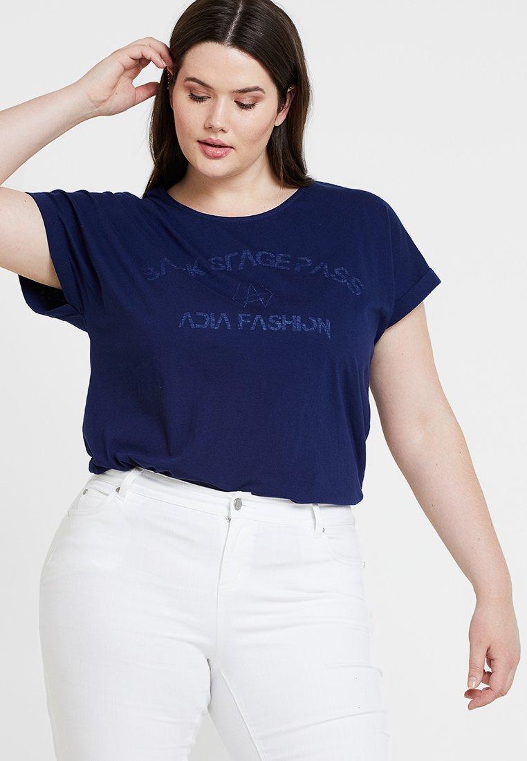 ADIA - MOTIF PRINT SHORT SLEEVE - Camiseta estampada - dark navy