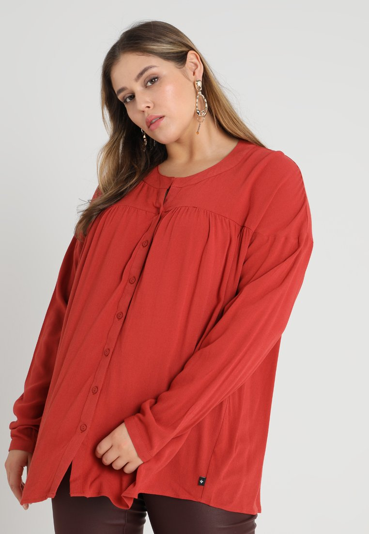 ADIA - BLOUSE LONG SLEEVES THROUGH BUTTONED - Bluser - terracotta