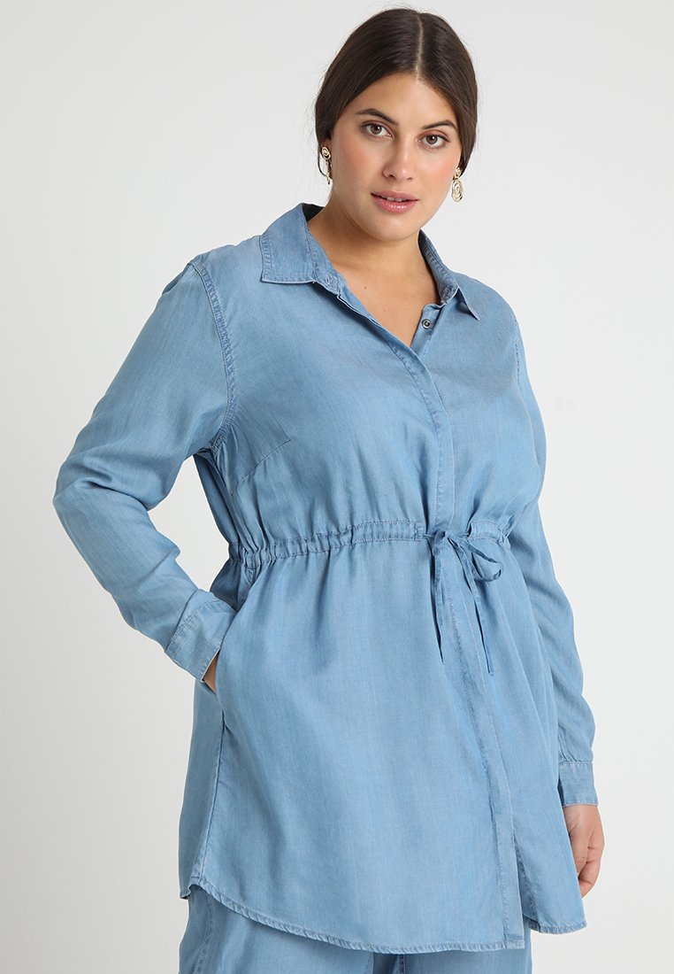 ADIA - Button-down blouse - blue spring