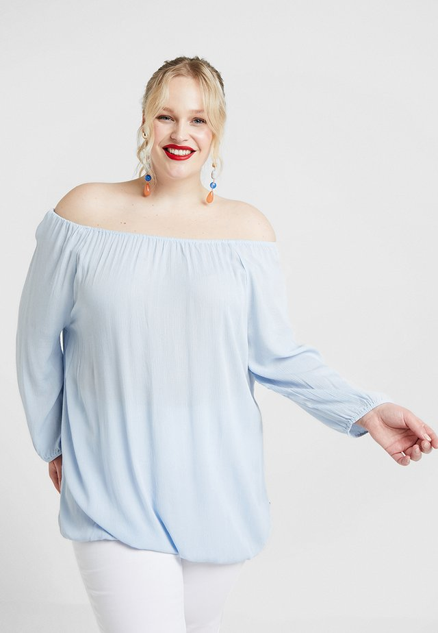 SLEEVE BARDOT TOP - Pusero - blue bell