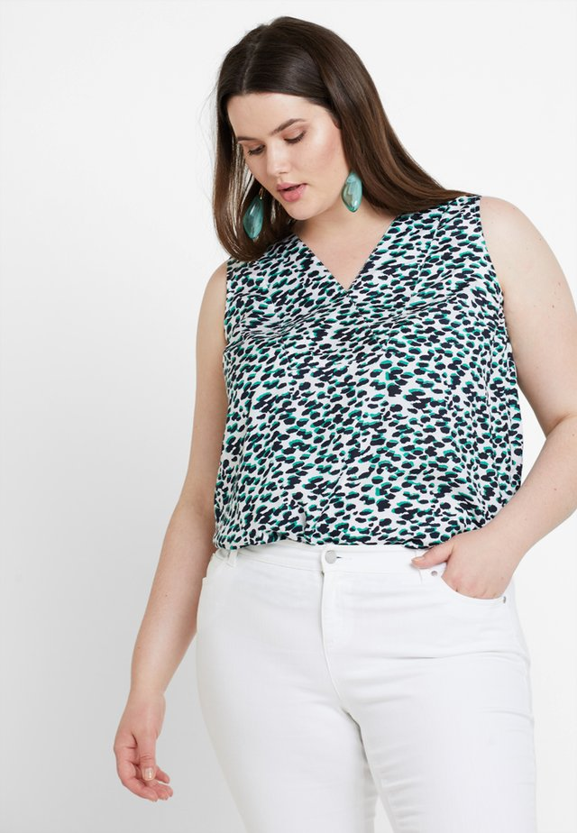 LEOPARD TILDA PRINTED SLEEVELESS BOUSE - Blouse - green bean