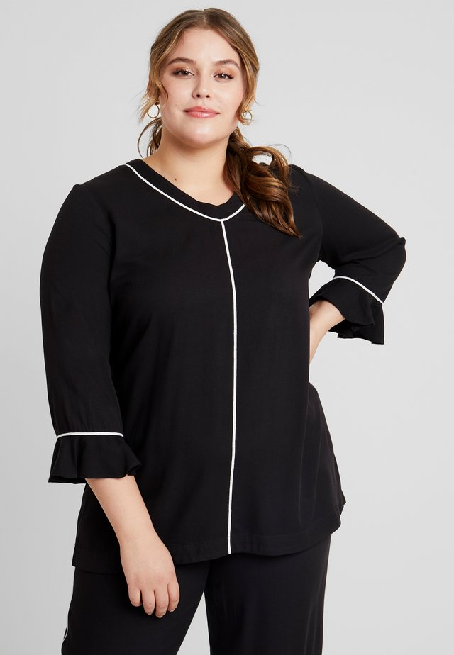 BLOUSE 3/4 SLEEVES - Blouse - black