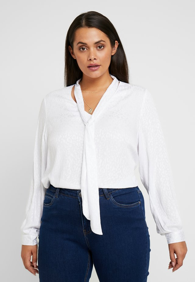 BLOUSE SLEEVES - Pusero - white
