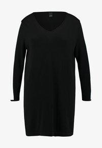 ADIA - V-NECK SLEEVES - Maglione - black - 4