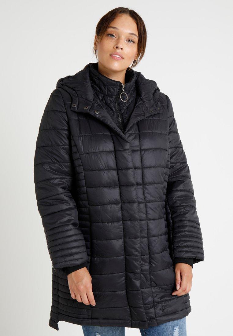 ADIA - POUTDOOR TWO WAY ZIPPER COAT - Winter coat - black