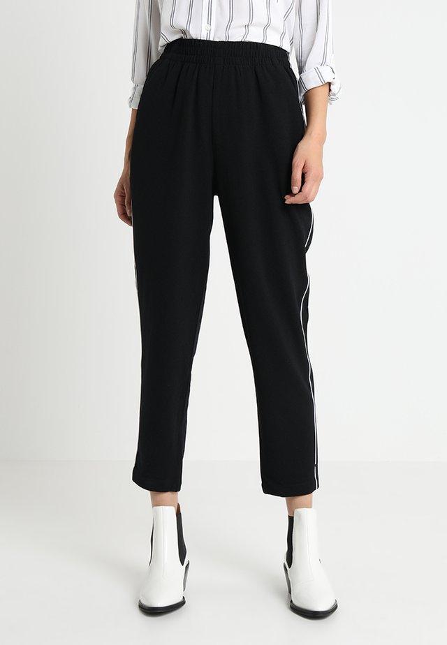 PANT - Trousers - black/white