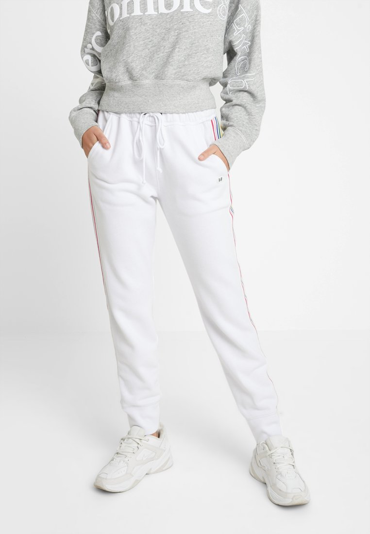 Abercrombie & Fitch - LOGO - Tracksuit bottoms - white
