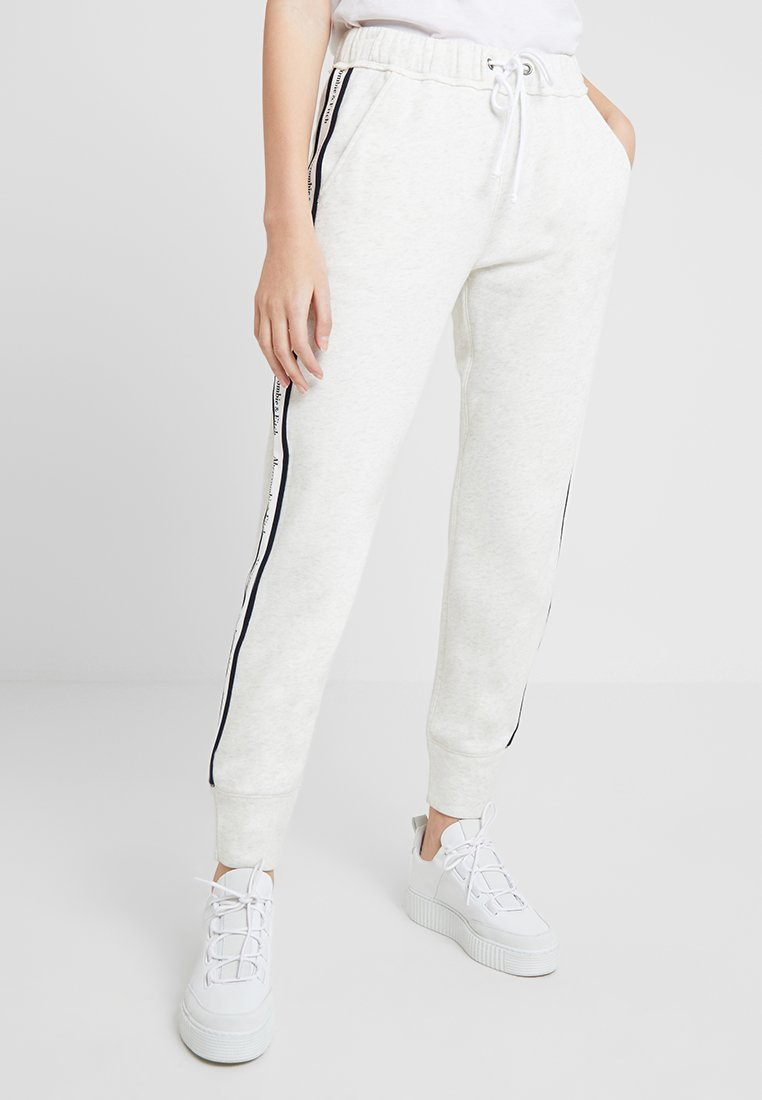 Abercrombie & Fitch - LOGO - Tracksuit bottoms - mottled grey