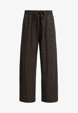 CROP PANT - Kalhoty - black