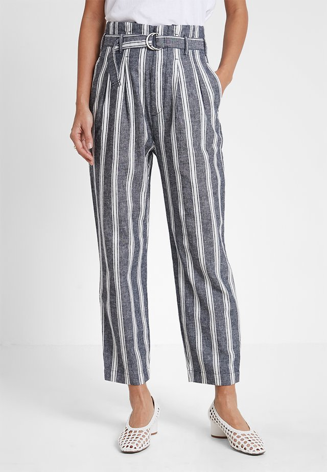 PAPERBAG WAIST PANT - Trousers - blue