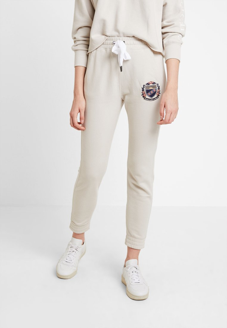 Abercrombie & Fitch - HIGH WAISTED JOGGER - Tracksuit bottoms - pumice stone
