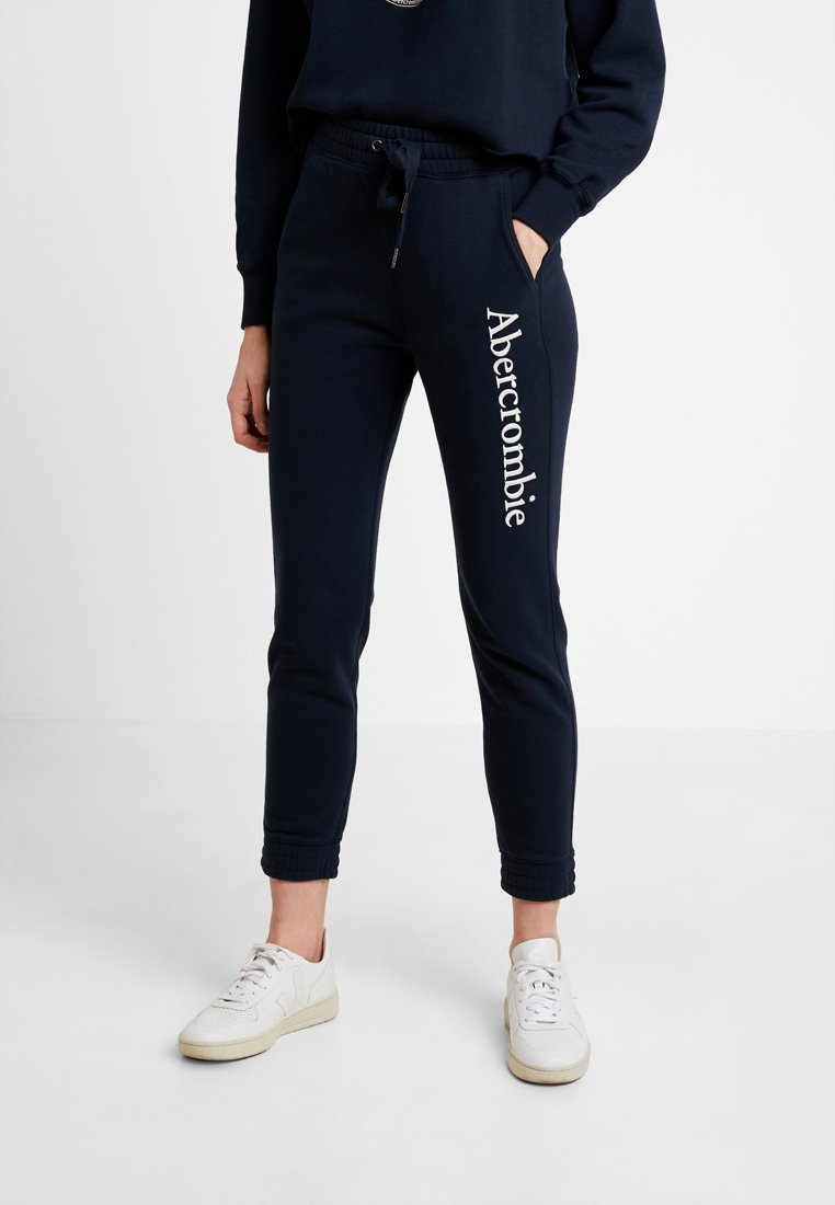 Abercrombie & Fitch - HIGH WAISTED JOGGER - Joggebukse - navy