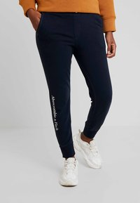 Abercrombie & Fitch - HIGH RISE JOGGER - Tracksuit bottoms - sky captian - 0