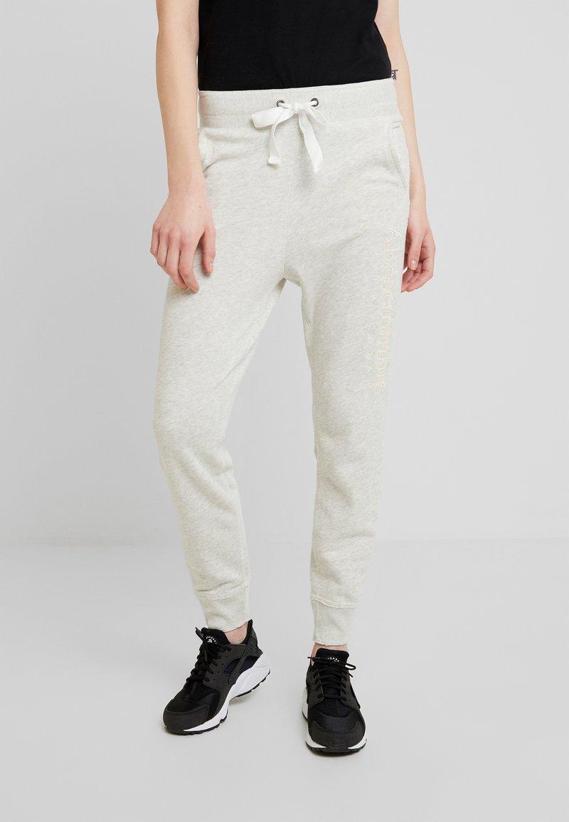 Abercrombie & Fitch - CORE LOGO JOGGER - Teplákové kalhoty - heather