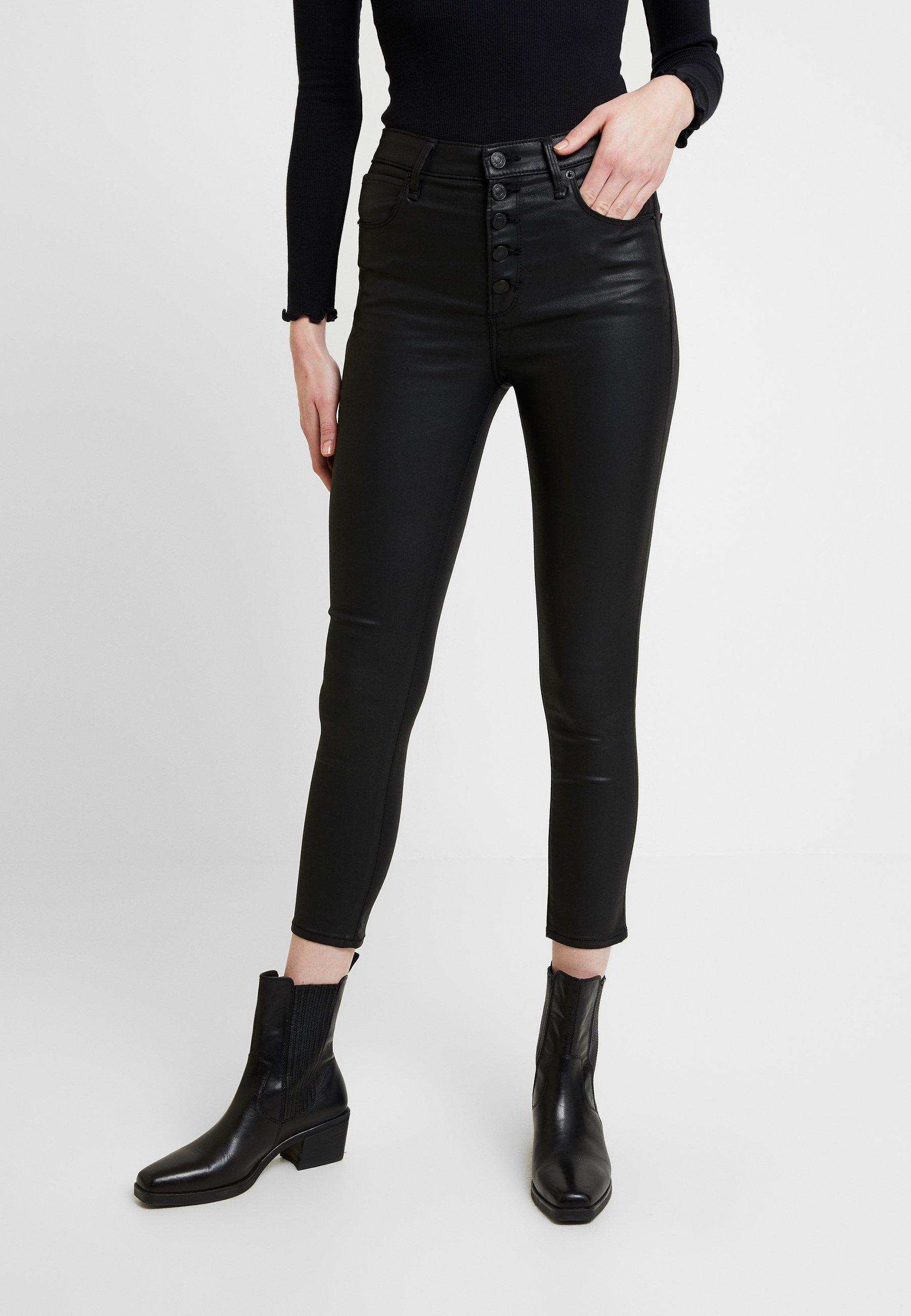 Abercrombie & Fitch ANKLE - Spodnie materiałowe - black