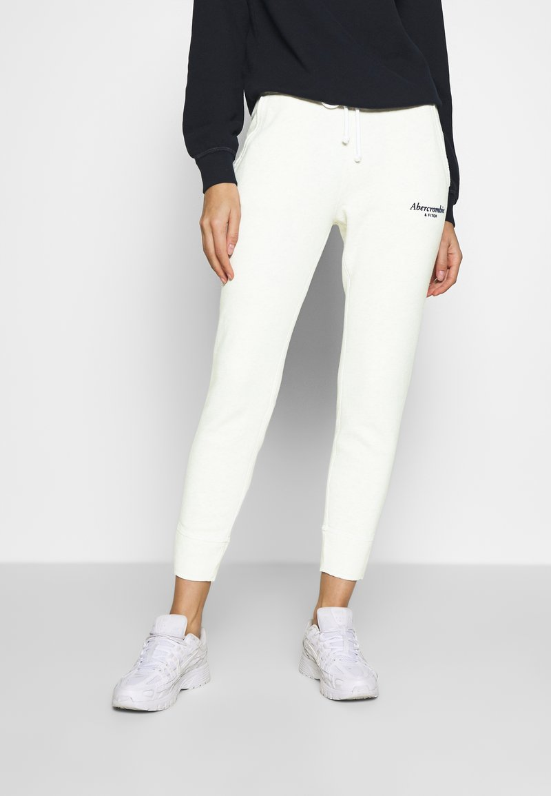 Abercrombie & Fitch - TREND LOGO  - Tracksuit bottoms - light grey