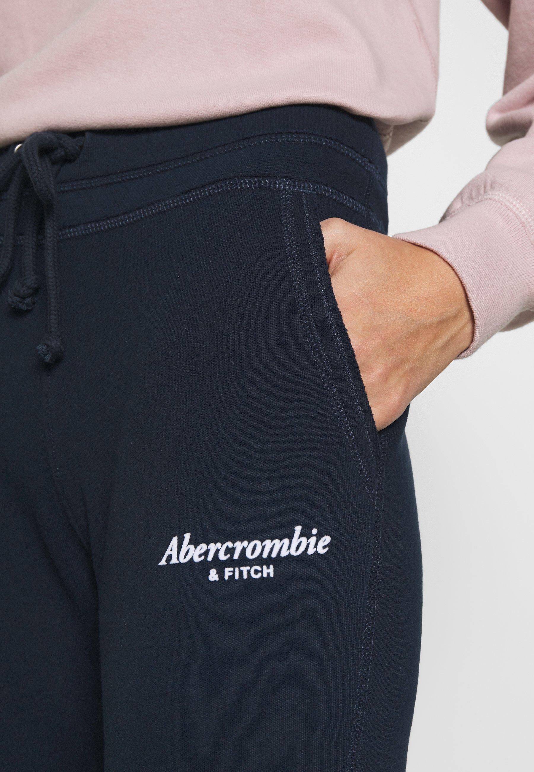 Abercrombie & Fitch TREND LOGO  - Spodnie treningowe - navy