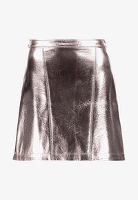 Abercrombie & Fitch - Áčková sukně - pewter dark silver metallic - 3
