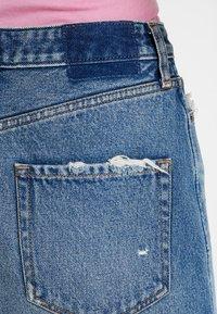 Abercrombie & Fitch - CLASSIC SKIRT - Denimová sukně - dark wash - 3